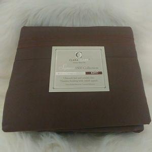 Clara Clark Deluxe Coffee ☕ King Size Sheet Set